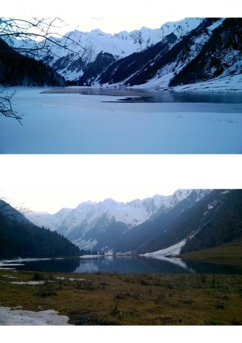 Fonte lac estaing 1 semaine